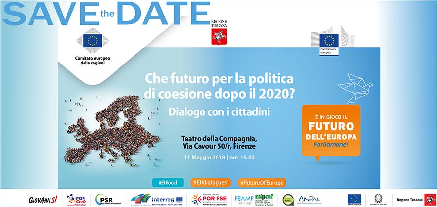 """11 maggio. Firenze: """"Che futuro per la politica di coesione dopo il 2020?"""""""