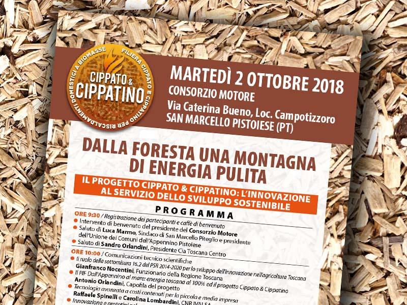 2 ottobre 2018, Campotizzoro. Dalla foresta una montagna di energia pulita